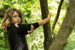 Child (charlotteetwein) Tags: portrait child blond enfant arbre fort