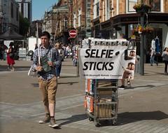Selfie Sticks (rubel roy's photography) Tags: sticks leeds briggate selfie