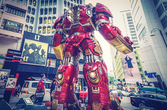 Avengers In Town - Causeway Bay, Hong Kong (, ) (dlau Photography) Tags: life city travel fiction vacation urban favorite cinema man film comics bay town iron theater outdoor ironman tourist hong kong superhero scifi fi marvel  visitor soe sci encounter avengers causeway