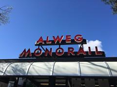 Alweg Monorail (busdude) Tags: blue train seattle center alweg monorail worlds fair 1962