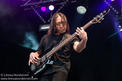 John Myung, Dream Theater (Linnea Nordstrm) Tags: summer music norway festival rock metal 30 musicians john outside outdoors norge theater tour open anniversary stage air famous year north dream player legendary norwegian bands artists tromsoe performers legend base midnightsun sommar musikk troms troms norsk prog myung bukta festivalen telegrafbukta tromsotroms