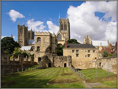 Medieval Bishops' Palace, Lincoln (#1) (Jason 87030) Tags: city uk greatbritain light england sky cloud english history stone site view cathedral unitedkingdom sunny august palace medieval historic bishop impressive dayout englishheritage 2015 undercroft