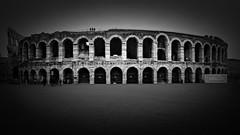 Arena Di Verona (Clea Romeo) Tags: verona colosseum roman amphitheatre blackandwhite long exposure italy