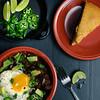 Leftovers (djwtwo) Tags: nikon d7000 afnikkor50mmf18 chili jalapeno fried egg avocado green onion lime cornbread dinner cooking strobist
