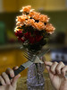 Let's Eat (swong95765) Tags: flowers bokeh hands knife fork crystal vase kitchen countertop