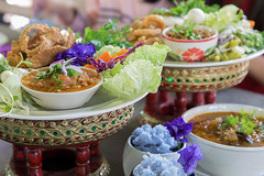 Khantoke dinners have long been a popular tourist attraction in areas of Northern Thailand (anekphoto) Tags: thailand food thai good meal asia tourist rice dish popular advantage useful spice delicious chaingmai khantoke kantoke culture somtum grass tissue pork vegetable kratip eat tasty healthy famous tradition sticky healthful nor nutrient cooking spicy asian lamphun lampang maehongson chiangrai vintage old style original chili sauce table tarty chiangmai