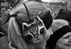 Kitty kitty (TwinCitiesSeen) Tags: people blackandwhite twincities twincitiesseen saintpaul minnesota canont3i tamron2875mm womensmarch