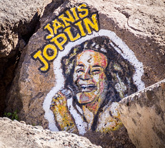 Janis Joplin on the rocks in Santa Cruz de Tenerife (TimOve) Tags: tenerife canaryislands kanariøyene vacation ferie 2016 syden janisjoplin santacruzdetenerife artwork