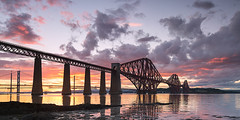 Forth railbridge sunset (matty brooks) Tags: scotland edinburgh forth forthbridges forthrailbridge sunset colourful clouds canon5dmkiii
