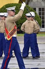 Scott in formation (Jon_Marshall) Tags: scott marines marine bootcamp graduation platoon foxcompany companyf band leader marinecorpsrecruitdepot sandiego mcrd fatalfoxes 2122 military