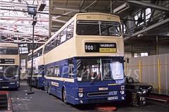 WMT 2749, Birmingham Central Garage, 1988 (Lady Wulfrun) Tags: wmt 2749 birmingham central 7th august 1988 wmpte birminghamcentral liverpoolstreet mcw metrobus a749wvp