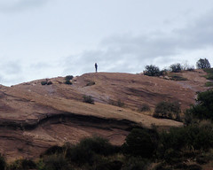 022 Alone On The Hill (saschmitz_earthlink_net) Tags: 2017 california orienteering vasquezrocks aguadulce losangelescounty laoc losangelesorienteeringclub