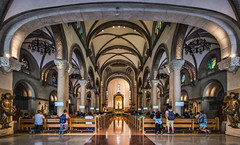Manila Cathedral Interior #2 (FotoGrazio) Tags: composition metromanila fotograzio manilacathedral photographicart internationalphotographer worldphotographer romancatholic waynegrazio photography manila architecture prayer pews sanctuary art church adobelightroom people reflections praying faithful religion philippines adobephotoshop catholic sandiegophotographer christian columns historical interior artofphotography topazclarity panorama digitalphotography 500px waynesgrazio californiaphotographer flickr landmark photographicartist topazadjust