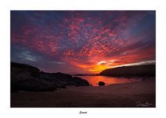 Sunset... (Canconio59) Tags: sunset ocaso playa beach meiras ferrol galicia españa spain nubes clouds mar sea costa coast colores colours