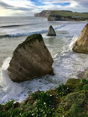 Stormy Freshwater Bay (Zoe.IOW) Tags: countryside beach rocks storm cliff freshwaterbay isleofwight sea waves