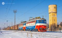 44 073 & 44 072 in Radomir (BackOnTrack Studios) Tags: tbd cargo freight 44072 44073 44 072 073 coal train radomir bulgaria skoda 068e electric locomotive bulgarian railways