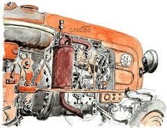Renault N72, 1960 (Croctoo) Tags: croctoo croquis croctoofr d22 renault tracteur n72 poitou poitoucharentes