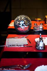 Palla da Discoteca (Agua Limpia) Tags: italy rome mirrorball restaurant table inside