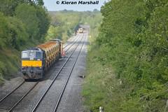 085 at Ratheven, 6/6/15 (hurricanemk1c) Tags: irish train gm rail railway trains railways irishrail generalmotors 085 2015 emd 071 iarnród éireann iarnródéireann ratheven 1430portlaoisepwuplineworksite