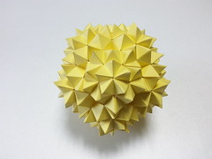 Stellated Augmented Truncated Series(SATS) Dodecahedron (hyunrang) Tags: paper origami strip cupola stellated hur truncated sats augmented pentagonal decagonalface