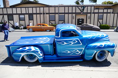 'Blue Moon' GMC (bballchico) Tags: paint flames pickuptruck santamaria custom gmc metalflake carsonthestreet westcoastkustomscruisinnationals