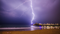 Bournemouth Lightning Storm 030715a (mpelleymounter) Tags: thunderstorm nightsky bournemouthpier seaandsky lightningstorm bournemouthbeach dorsetnight markpelleymounter lightningbythepier