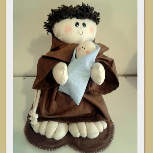 Santo Antônio #santoantonio #feitodepano #feitocomcarinho #bysoniaferraz