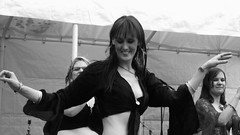 Edinburgh Canal Festival 2015 - belly dancers 02 (byronv2) Tags: portrait blackandwhite bw woman sexy monochrome beautiful smile face festival scotland canal blackwhite dance hands edinburgh tits dancing boobs candid stage bellydancer dancer sensual cleavage performers performer bellydancing peoplewatching tollcross unioncanal downblouse edimbourg fountainbridge lochrinbasin canalfestival edinburghcanalfestival edinburghcanalfestival2015 canalfestival2015