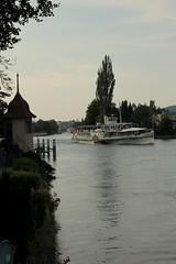 Dampfschiff DS Blüemlisalp ( Schaufelraddampfer - Salondampfer - Raddampfer - Baujahr 1906 - Länge 63.45m - Passagiere 750 ) in der Aare bei Thun im Berner Oberland im Kanton Bern der Schweiz (chrchr_75) Tags: chriguhurnibluemailch christoph hurni schweiz suisse switzerland svizzera suissa swiss chrchr chrchr75 chrigu chriguhurni juli 2015 thun kantonbern berner oberland berneroberland kursschiff schiff bateau ship thunersee juli2015 albumzzz201507juli schiffahrt kursschiffahrt passagierschiffahrt passagierschiff skib alus πλοίο 船 корабль schip fartyg barco dampfschiff schaufelraddampfer salondampfer dampfer vapor stoomboot steamer vapeur ångaren dampfschiffblüemlisalp blüemlisalp ds escher wyss 1906 dampfmaschine blüemlere albumthunersee kanton bern alpensee see lake lac sø järvi lago 湖 albumregionthunhochformat thunhochformat hochformat