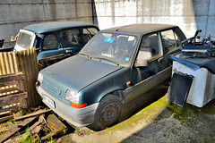 renault 5 (riccardo nassisi) Tags: auto abandoned car golf volkswagen pc rust ruins rusty rr scrapyard wreck scrap piacenza wrecked officina ruggine relitto rottame abbandonata rottami