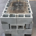 Temporary Cinder Block Barbecue Grill thumbnail