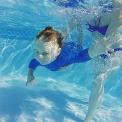 Learning to swim (jacksainsbury) Tags: blue baby pool underwater swimmingpool learningtoswim gopro