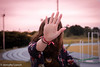 Naju (loesch.) Tags: stop chega pare mão hand girl sunset pink outside