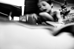 myope (polo.d) Tags: myope wet water distortion lens kid playing pool swimming noir portrait blur motion blurry monochrome people face