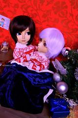 Ugly Couple Sweaters   Taeyangs Alberic & Arion (·Kumo~Milk·^^) Tags: taeyang taeyangs max zero alberic arion hnaoto rewigged wig wigs obitsu rechipped eyelashes eyechips gloss doll dolls junplanning groove christmas yaoi uke seme