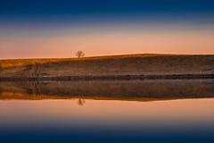 Miroir, mon beau miroir ... (vegard.magnus) Tags: lac lake godivelle cantal cezallier reflection miroir sunset gm1 panasonic four thirds 43 micro landscape