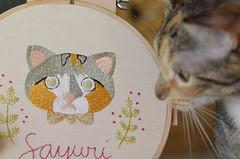 Sayuri bordada (Carol Grilo • FofysFactory®) Tags: bordado embroidery carolgrilo fofysfactory sayuri cat gato neko chat handmade craft quadrinho bastidor hoop