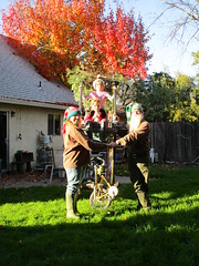 Merry Christmas, Best Wishes For 2017! (whymcycles) Tags: bike trike bicycle bici rhonrad whymcycle vitruvian racer ksr kinetic sculpture recycled family fall colours colors california davis tricycle freak front wheel drive bicyclette velo rad crochetted crochet hat hats diy