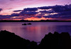 Sunset over the Sound of Sleat (Kevin J Allan) Tags: ap cameracanont90 coastal filmfujivelvia50 gripperii iso50 knoydart landscapepics lightandland marydoune scotland t90 boats film fuji lide