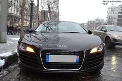 Audi R8 (Monde-Auto Passion Photos) Tags: auto automobile voiture véhicule audi r8 v8 coupé noir france paris supercar sportive