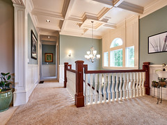 Oregon City, Oregon Real Estate Photography (mattvarney) Tags: oregoncity oregon realestatephotography stairwell hall stair millwork coffered ceiling coffer banister portland