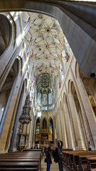 Vaulted (Watching Pancakes) Tags: kutnahora stbarbaraschurch czechrepublic church travel nikon verticalpanorama pano ceiling