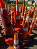 The Cone Zone (Steve Taylor (Photography)) Tags: cone road traffic green orange white plastic newzealand nz southisland canterbury christchurch city grass perspective shadow spring sunny sunshine