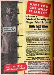Fingerprint Expert (1951) (Dex1138) Tags: mail order comic book ad detctive csi