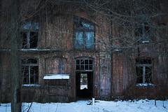 eaten by nature (jkatanowski) Tags: abandoned forgotten decay urbex urban exploration europe poland snow winter window building factory canon sigma 1835mm