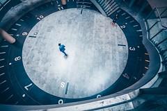 7:08 AM o'clock (Carlos Pinho Photography) Tags: paris underground saintlazare métroparisien métro clock silhouette