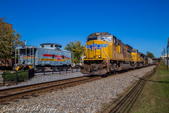Strange company (grady.mckinley) Tags: marion north carolina union pacific norfolk southern seaboard system clinchfield