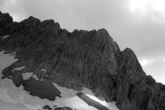 totes_gebirge_2015_11 (rhomboederrippel) Tags: rhomboederrippel fujifilm xe1 june 2015 upper austria hinterstoder groser priel totes gebirge hiking alps alpen trip sunny calcareous prielhütte monochrome snow bw