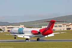 Denimair Fokker 100 PH-MJP at Isle of Man EGNS 10/06/15 (IOM Aviation Photography) Tags: man 100 isle fokker denimair 100615 egns phmjp