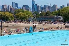 Summer In Vancouver (Clayton Perry Photoworks) Tags: summer canada beach pool skyline vancouver swimming downtown bc kits kitspool kitsilanobeach explorebc explorecanada
